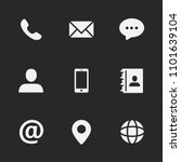 contact us icons most used... | Shutterstock .eps vector #1101639104
