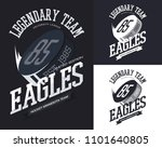 banners designs for eagles... | Shutterstock .eps vector #1101640805