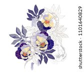 beautiful vintage royal floral... | Shutterstock .eps vector #1101640829
