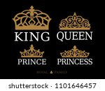 king queen  prince and princess ... | Shutterstock .eps vector #1101646457