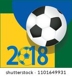 soccer ball on blue yellow and... | Shutterstock .eps vector #1101649931