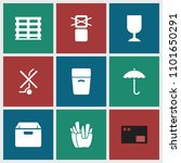 carton icon. collection of 9... | Shutterstock .eps vector #1101650291