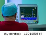 monitor of vital signs in the... | Shutterstock . vector #1101650564