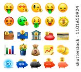 set of cute smiley emoticons ... | Shutterstock .eps vector #1101650924