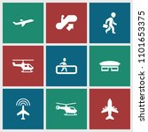 passenger icon. collection of 9 ... | Shutterstock .eps vector #1101653375