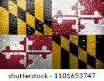 texture of maryland  flag on... | Shutterstock . vector #1101653747