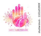 happy guru purnima festival... | Shutterstock .eps vector #1101653909