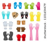 glove vector woolen xmas... | Shutterstock .eps vector #1101654479