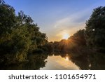 sunset in the danube delta ... | Shutterstock . vector #1101654971