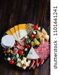 chesse platter with cheese ... | Shutterstock . vector #1101661241