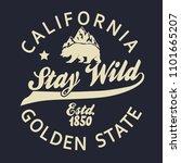 california vintage typography ... | Shutterstock . vector #1101665207