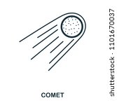 comet icon. flat style icon...