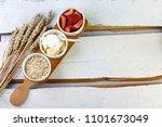 ingredients healthy breakfast   ... | Shutterstock . vector #1101673049