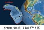 caribbean tectonic plate...   Shutterstock . vector #1101674645
