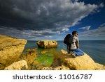 a man contemplating the... | Shutterstock . vector #11016787
