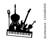 music band orchestra icon. set... | Shutterstock .eps vector #1101684335