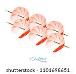 shrimps on a skewer vector... | Shutterstock .eps vector #1101698651