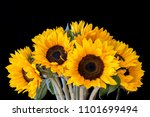 Bouquet Of Bright Sunflowers...