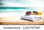 summer photo of free space and... | Shutterstock . vector #1101707387