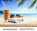summer photo of free space and... | Shutterstock . vector #1101707411