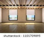 empty large room with windows... | Shutterstock . vector #1101709895