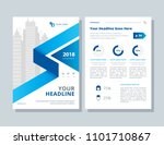 annual report  broshure  flyer  ... | Shutterstock .eps vector #1101710867