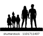vector silhouette of family. | Shutterstock .eps vector #1101711407