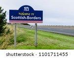welcome to scottish borders... | Shutterstock . vector #1101711455