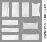 white blank textile advertising ... | Shutterstock . vector #1101712121