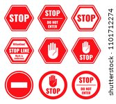 traffic stop  restricted and... | Shutterstock . vector #1101712274