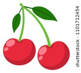 cherries illustration   pair of ... | Shutterstock .eps vector #1101712454