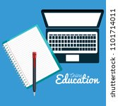 on line education with laptop | Shutterstock .eps vector #1101714011