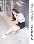 young thai university student... | Shutterstock . vector #1101717731