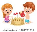 vector illustration of kids... | Shutterstock .eps vector #1101721511