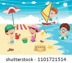 vector illustration of kids... | Shutterstock .eps vector #1101721514