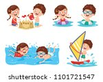 vector illustration of kids... | Shutterstock .eps vector #1101721547