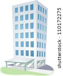 illustration of an urban scene... | Shutterstock .eps vector #110172275