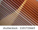 parallel lath structure. tilt... | Shutterstock . vector #1101723665