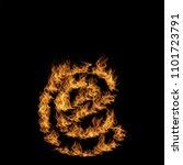 conceptual hot fiery burning... | Shutterstock . vector #1101723791