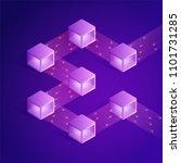 blockchain isometric...   Shutterstock . vector #1101731285