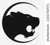 panther or tiger logo. black...   Shutterstock . vector #1101733571