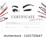 certificate for eyelash makers...   Shutterstock .eps vector #1101733667