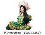 brazilian woman wearing typical ... | Shutterstock . vector #1101733694
