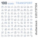 set of vector line icons  sign... | Shutterstock .eps vector #1101737534