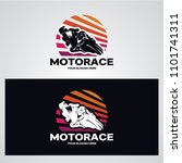 motorcycle race logo designs... | Shutterstock .eps vector #1101741311