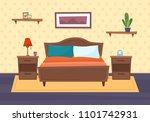 bedroom with furniture. flat... | Shutterstock .eps vector #1101742931