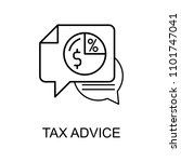 tax advice line icon. element... | Shutterstock .eps vector #1101747041