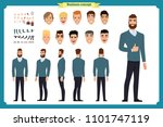 business casual fashion. front  ... | Shutterstock .eps vector #1101747119