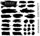 set of black paint  grunge  ink ... | Shutterstock .eps vector #1101749177