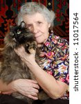 Grandmother Sitting With Cat O...